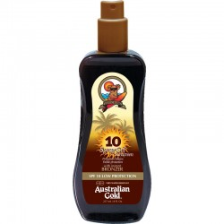 AUSTRALIAN GOLD SPRAY GEL WITH BRONZER SPF 10 237 ML