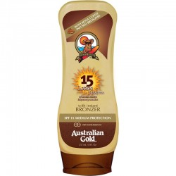 AUSTRALIAN GOLD LOTION WITH BRONZER SPF 15 237 ML