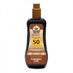 AUSTRALIAN GOLD SPRAY GEL WITH BRONZER SPF 50 237 ML