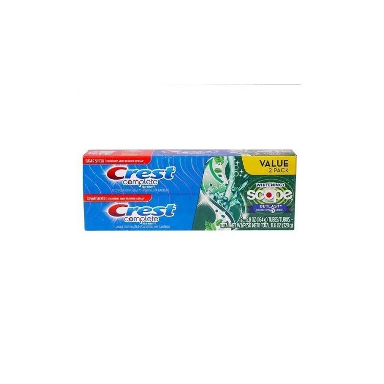 CREST COMPLETE KIT DUO DENTIFRICI 2 X 5.8 OZ