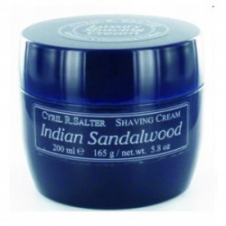 CYRIL SALTER LUXURY SHAVING CREAM INDIAN SANDALWOOD 165 GR