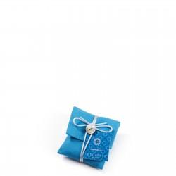 LOCHERBER CAPRI BLUE SACCHETTO DI LINO CON BOTTONE